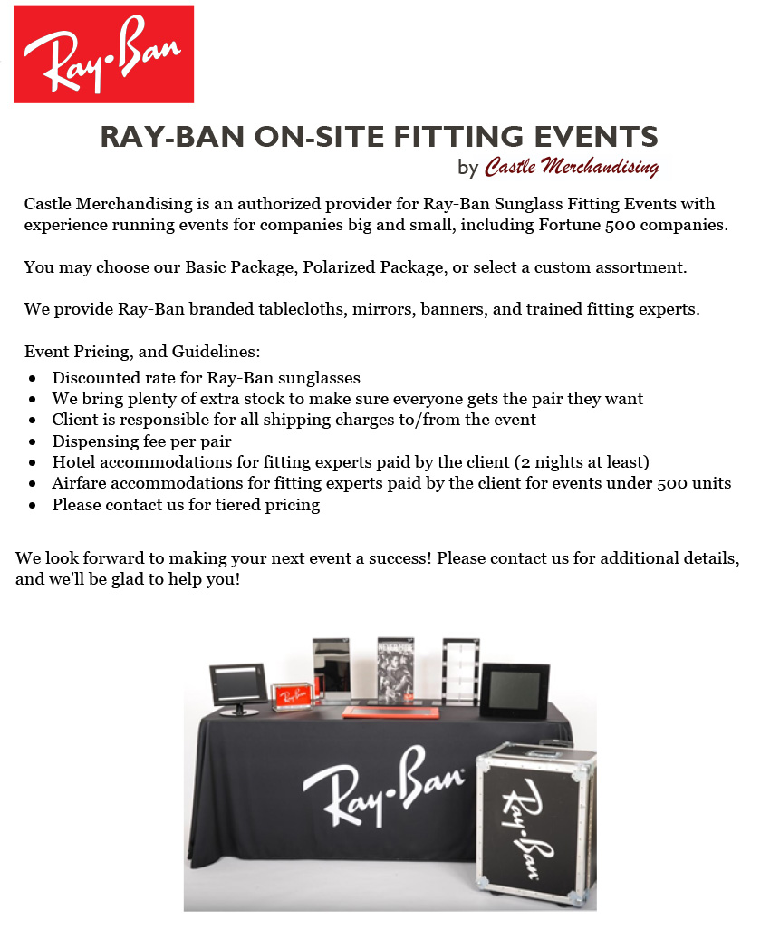 Ray-Ban On-Site Fitting Events 70e057f0b789